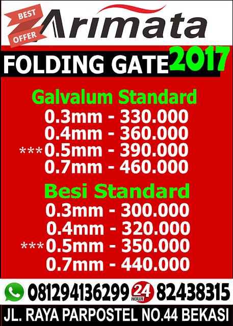 daftar harga jual folding gate di tangerang