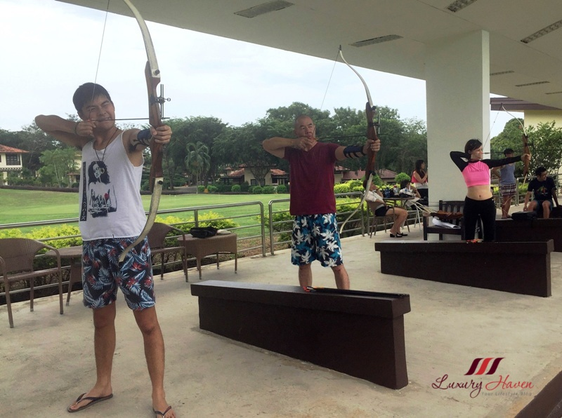 bintan lagoon resort family fun activities archery