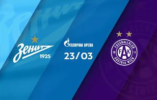 Зенит – Аустрия смотреть онлайн бесплатно 23 марта 2019 прямая трансляция в 18:00 МСК.