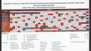 Kalender Pendidikan Tahun Pelajaran 2020/2021 Jawa Timur