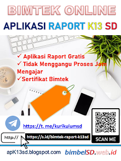 bimtek aplikasi raport k13 sd online