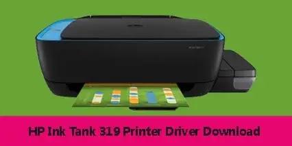 HP Ink Tank 319 Printer Scanner Driver Software