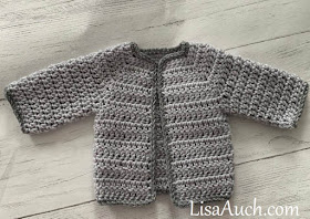 Crochet baby cardigan sweater boy