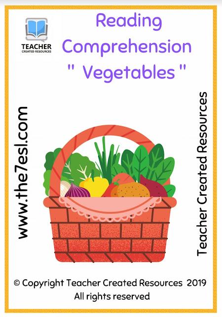 Reading Comprehension Vegetables