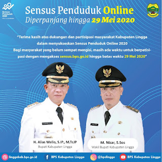 Sensus Penduduk Online Diperpanjang Hingga 29 Mei 2020.