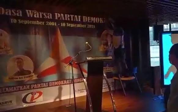 Acara HUT Partai Demokrat Kubu Moeldoko Dibubarkan Polisi