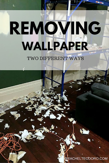 removing wallpaper two different ways
