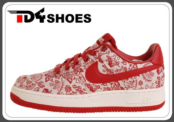 sports shoes c7d55 22b63 Nike Womens Air Force Valentine Pack Sail Red Shoes