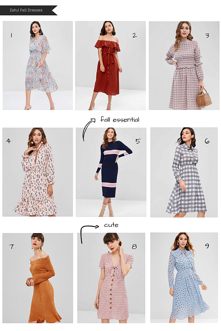 Zaful Fall Dresses Wishlist