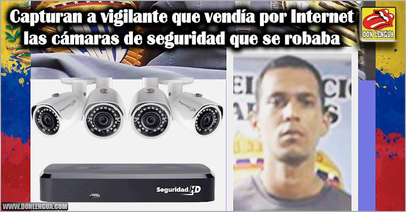 Capturan a vigilante que vendía por Internet las cámaras de seguridad que se robaba
