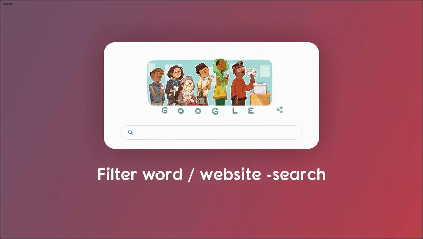 cara mudah filter kata atau situs dengan simbol dikolom pencarian agar dapat menghindari pencarian yang tidak sesuai dengan kemauan kita.