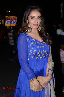 Telugu Actress Tejaswi Madivada Pos in Blue Long Dress at Nanna Nenu Na Boyfriends Audio Launch  0008.JPG