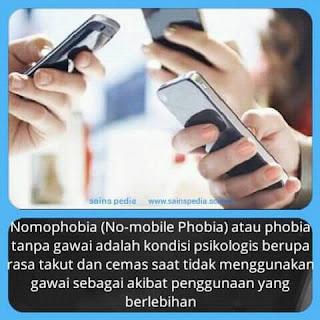 Bahaya Gadget , Nomophobia (phobia tanpa gadget)