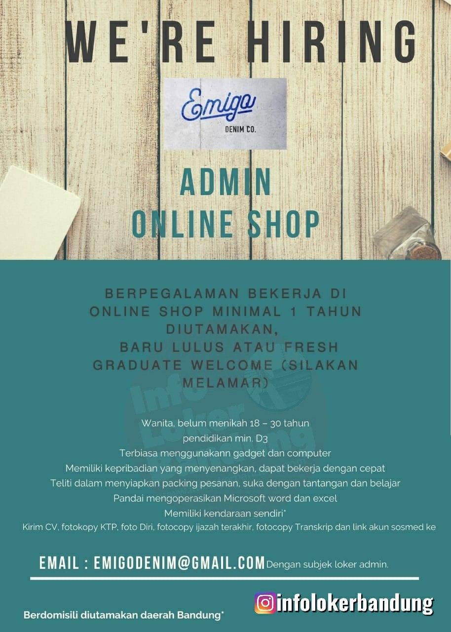 Lowongan Kerja Admin Online Shop Emigo Denim Co Bandung Februari 2020