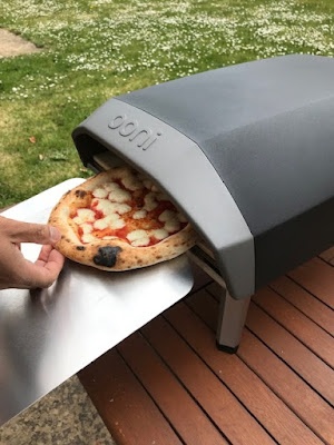 Cooking pizza in the Ooni Koda pizza oven