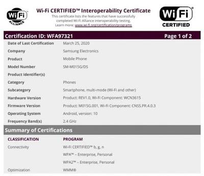 Leak unveils a cheap phone Samsung Galaxy M01