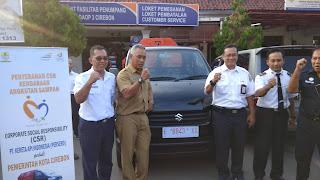 DLH Kota Cirebon Dapat CSR Dari PT KAI Daop 3 Cirebon
