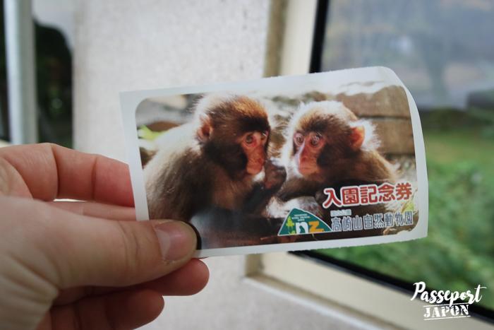Billet d'entrée, parc Takasakiyama, Oita