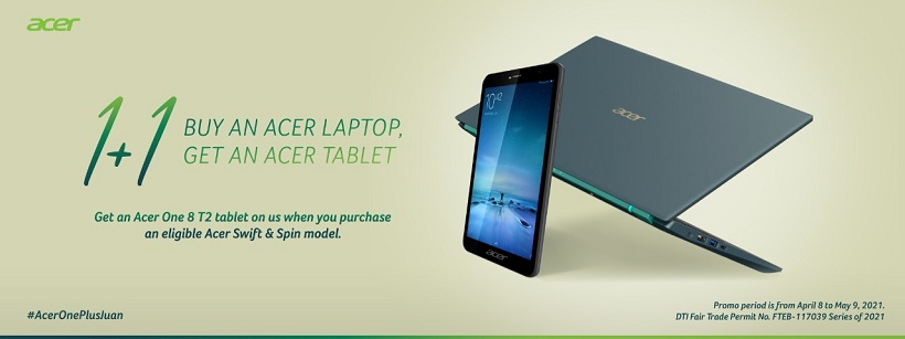 AcerOnePlusJuan bundle: Buy an Acer Swift or Spin laptop and get Acer One 8 T2 Tablet for FREE
