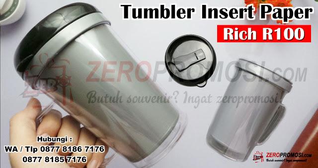 Tumbler Rick Thumbler Trust Insert paper, Botol minum R100 Tumbler Insert Paper RICH 100