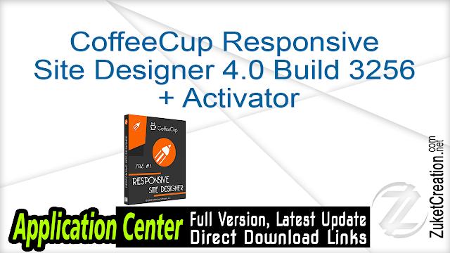 CoffeeCup Responsive Site Designer 4.0 Build 3256 + Activator