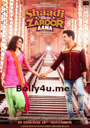 Shaadi Mein Zaroor Aana 2017 pDVDRip 700MB Hindi Movie x264 Watch Online Full Movie Download bolly4u