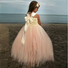 girls long peach romantic tutu