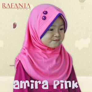 Hijab Rafania Model Amira Warna Pink