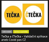 Tečka a čTečka – Validační aplikace aneb Covid pas CZ - AzaNoviny