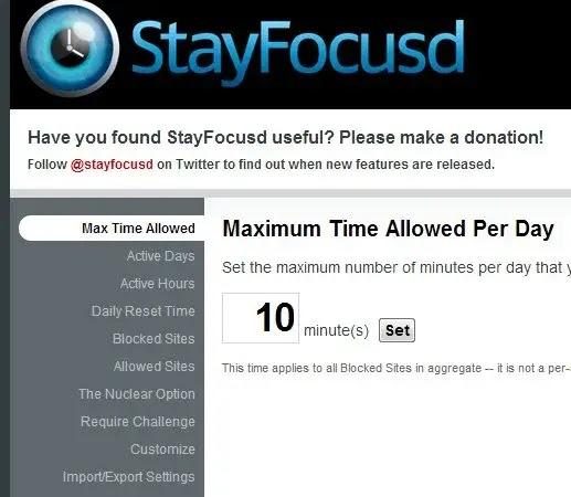 كيفية حظر و حجب مواقع الويب باسنخدام ملف stayfocusd