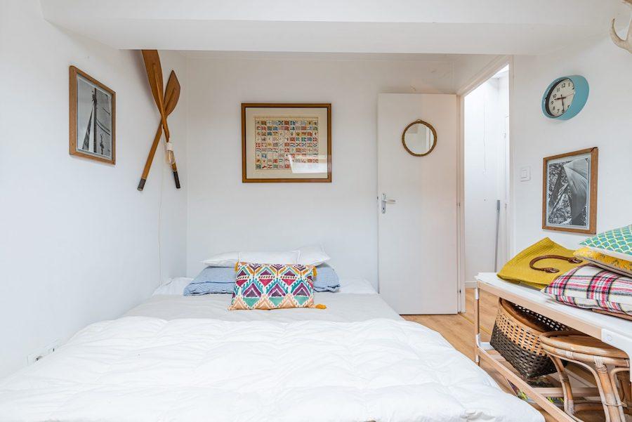 Dormitorio de invitados de estilo boho