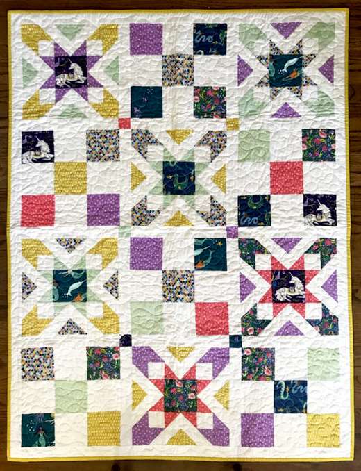 Magical Creatures Star Quilt designed by Jennifer Moore of Monaluna