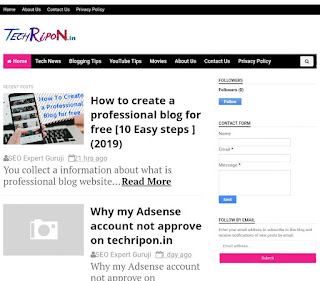 Customise your professional blog on blogger or WordPress