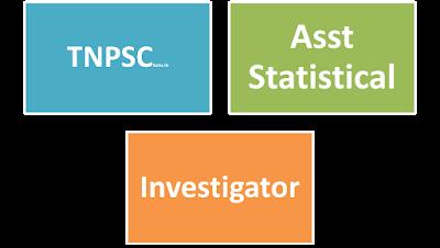TNPSC Assistant Statistical Investigator Exam 2015