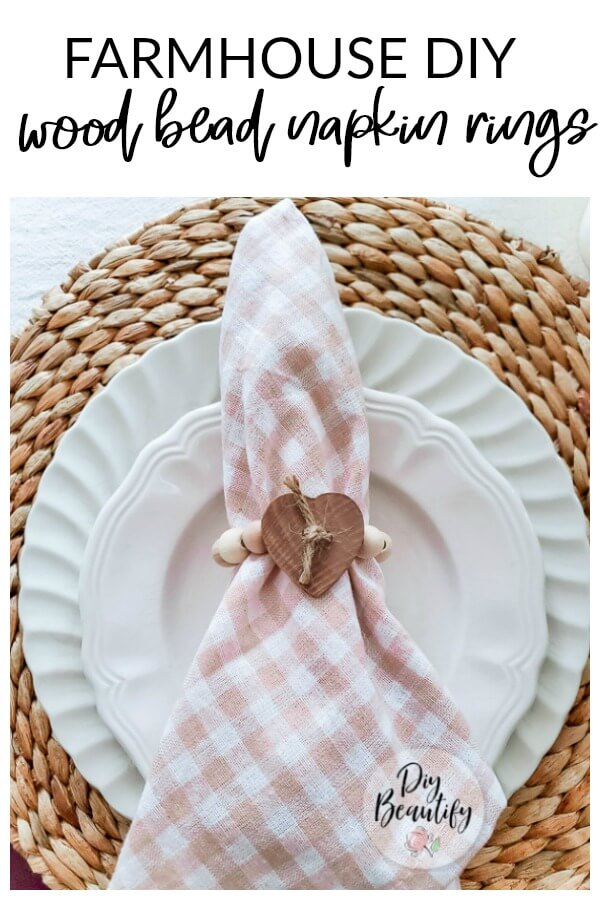 farmhouse wood bead napkin ring