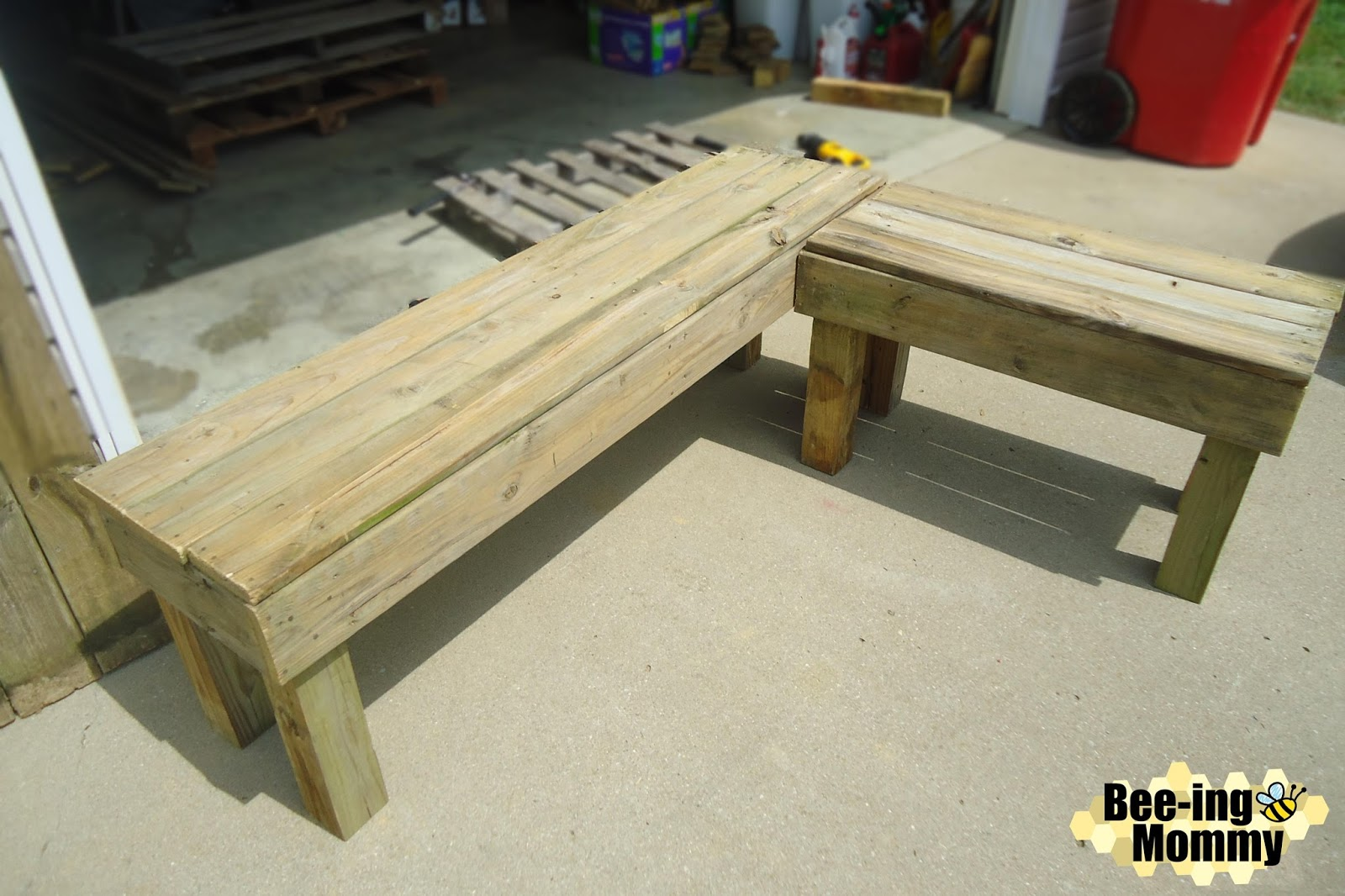 diy l shape patio bench