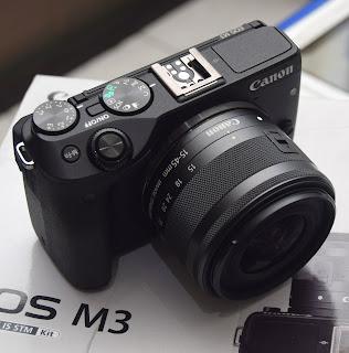 Kamera Mirrorless Canon Eos M3 Fullset di Malang
