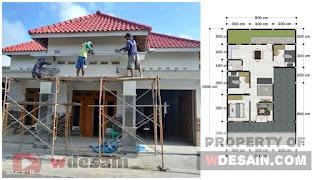Denah Rumah Minimalis Sederhana 9x15 1 Lantai