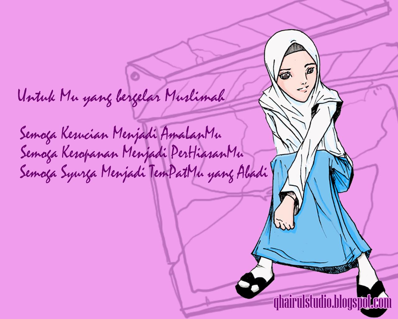 Koleksi 430  Gambar Animasi Kartun Hijab Bergerak HD Free Downloads