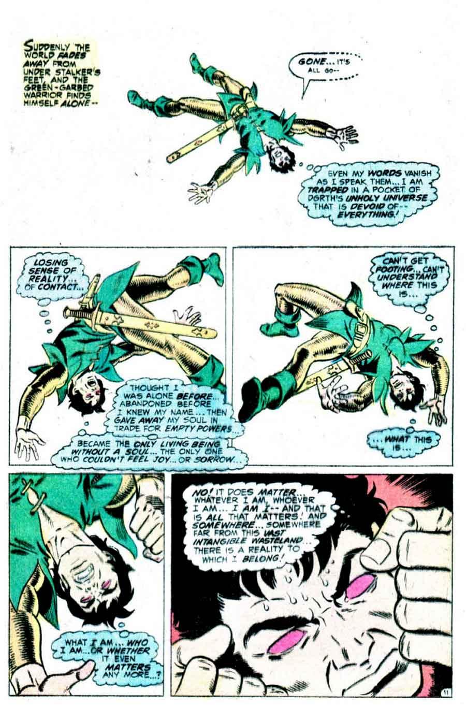 Stalker v1 #4 dc bronze age comic book page art by Steve Ditko, Wally Wood