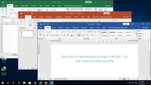 Ghost Win 10 1809 (OS Build 17763.195) - Full Soft, Không Cá Nhân Hóa