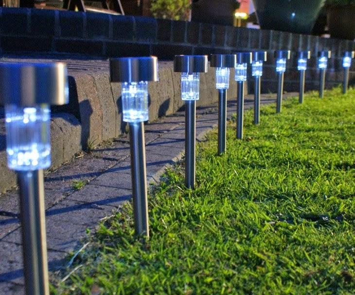 Lampu Taman Solar Cell Di Halaman/Taman Tenaga Surya