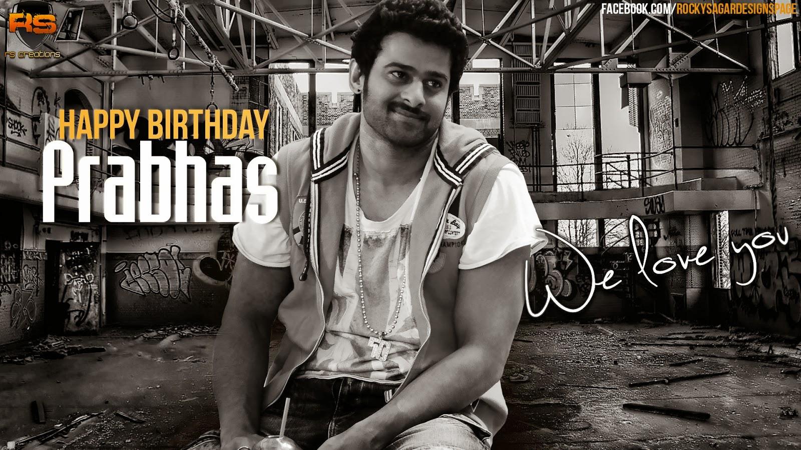 Prabhas Designs: Happy Birthday Prabhas- Set 1