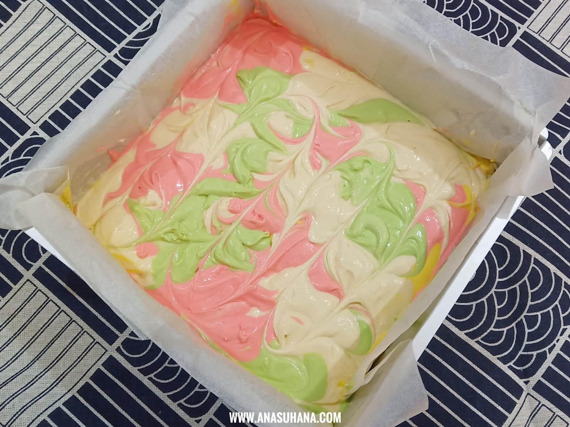Resipi Kek Butter Marble Anti Gagal Yang Sedap dan Mudah Disediakan