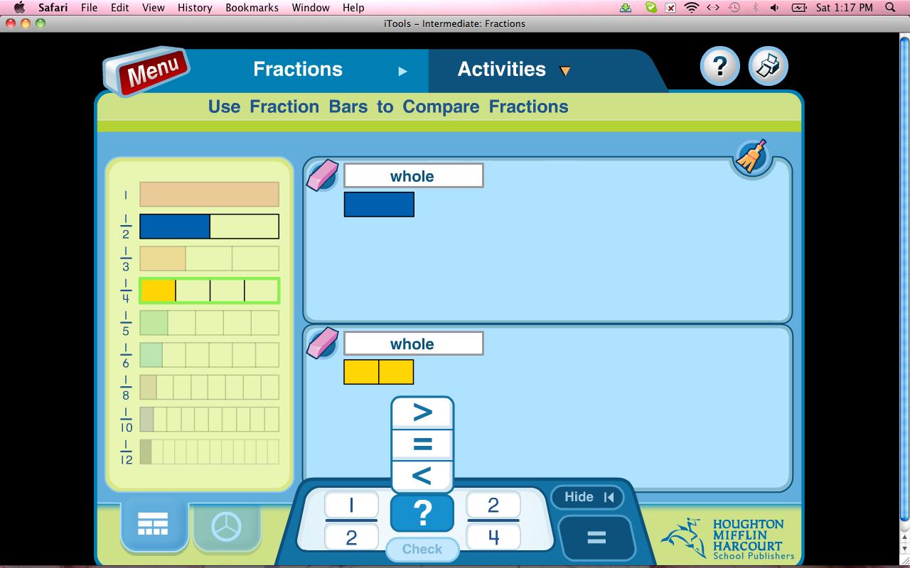 Houghton Mifflin Math Fraction Worksheet
