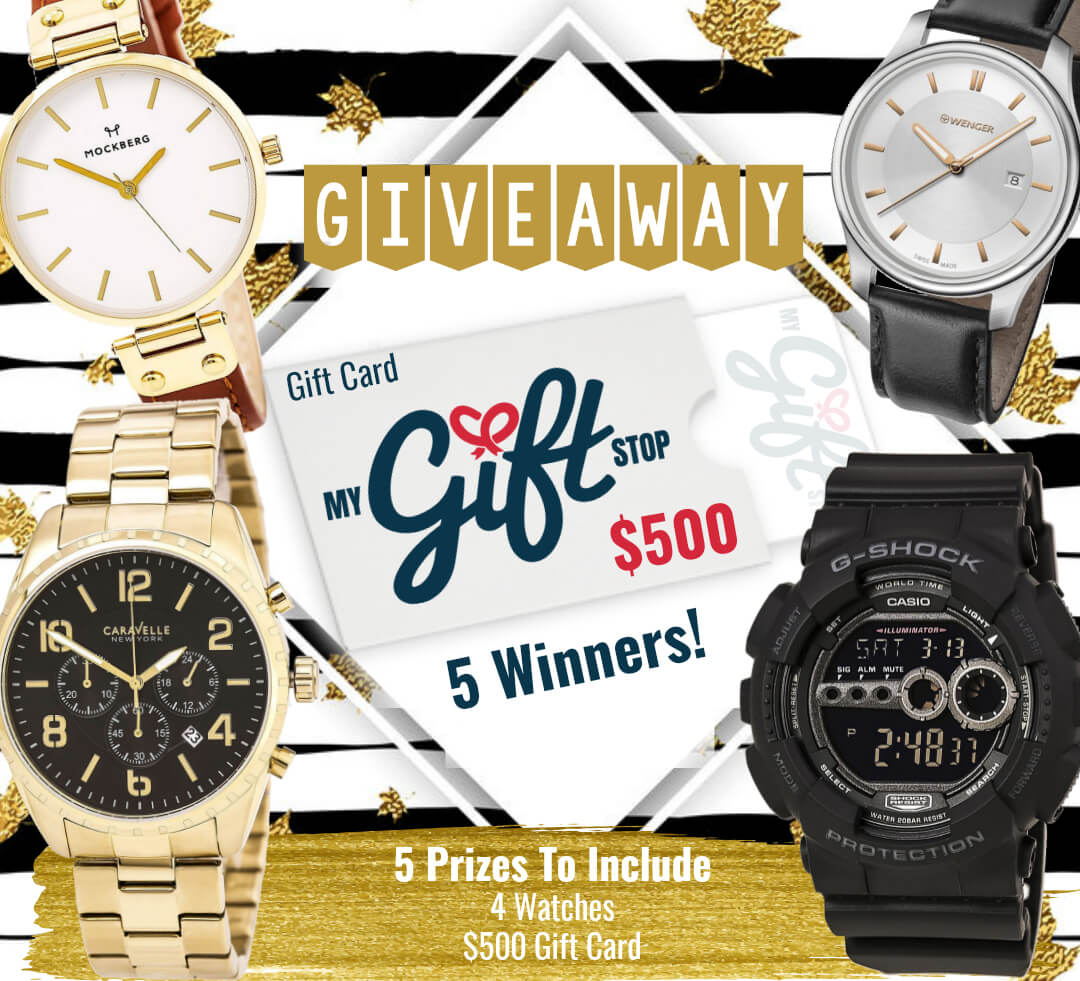 Mega Fall Watch Giveaway Plus A $500 Gift Card To My Gift Stop By Barbies Beauty Bits