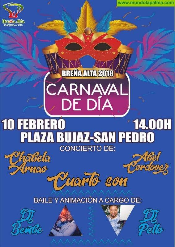 Breña Alta celebra el sábado el Carnaval de Día y el Pasacalle Infantil