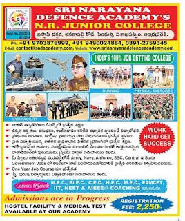 Sri narayana defence Academy pendurthi visakhapatnam