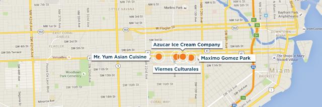 Mapa da Calle Ocho