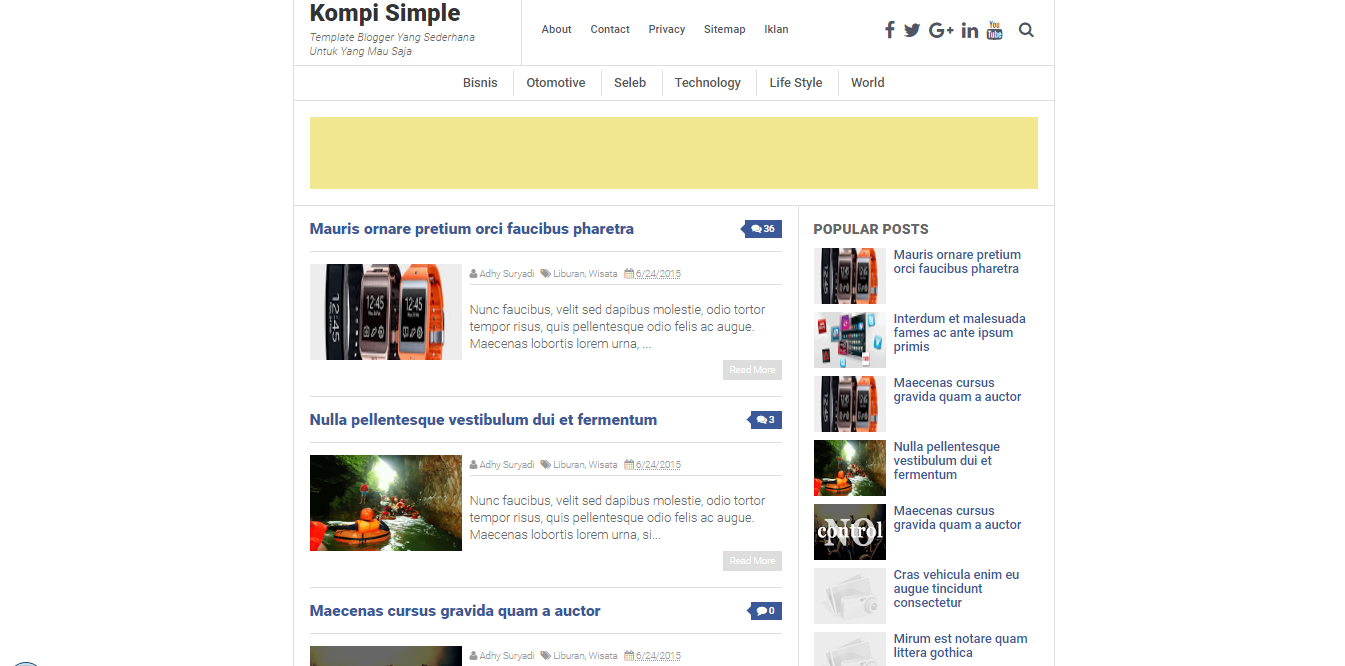 Kompi Simple Responsive Blogger Templates Free Download
